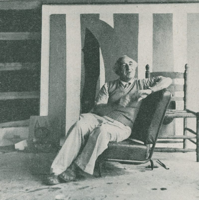 Pierre Chareau in Motherwell's Studio