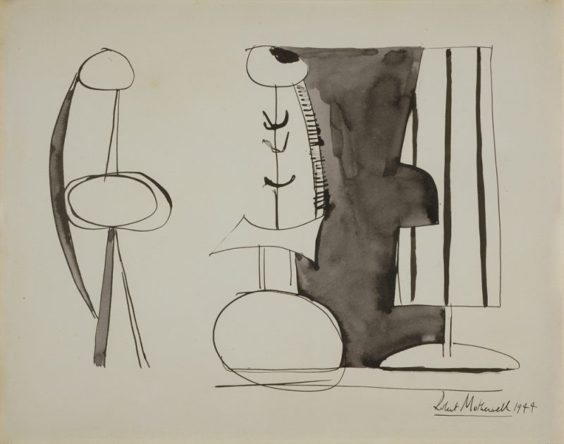 """Constructed Figures,"" 1944. Ink on paper, 11 1/8 x 14 1/2 in. © Dedalus Foundation, Inc./Licensed by VAGA. New York, NY."