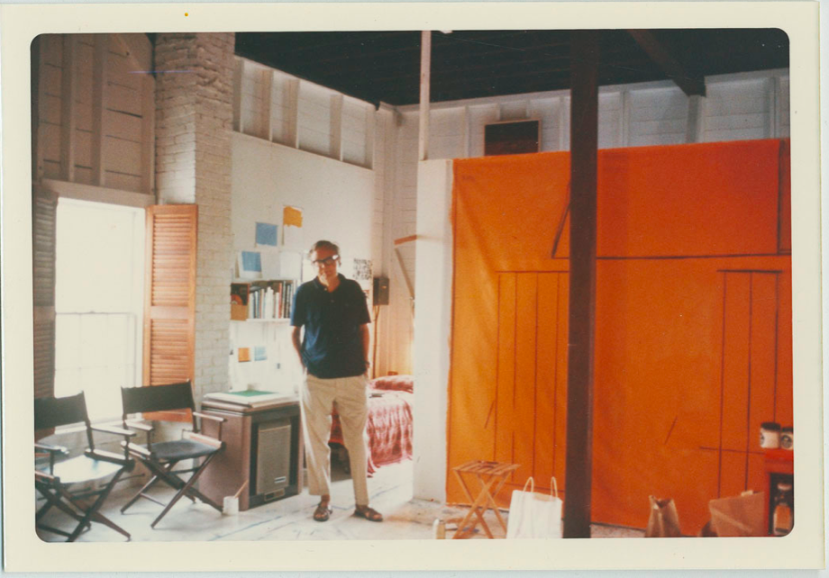 Motherwell in his Provincetown studio, 1969