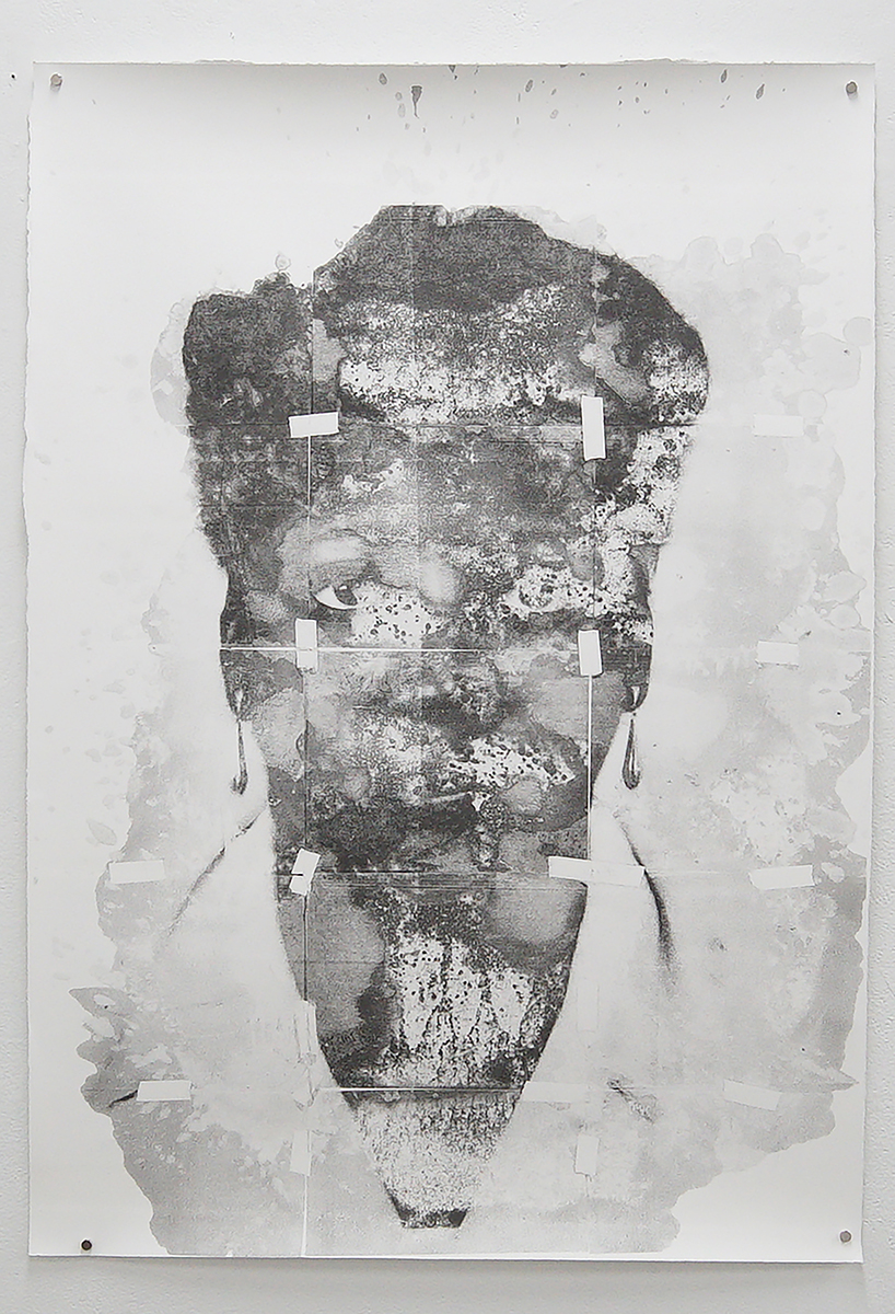 """Untitled (Yvonne) from the New Haven Series, 2020, solvent transfer on archival paper, 30""""x 44"""""""