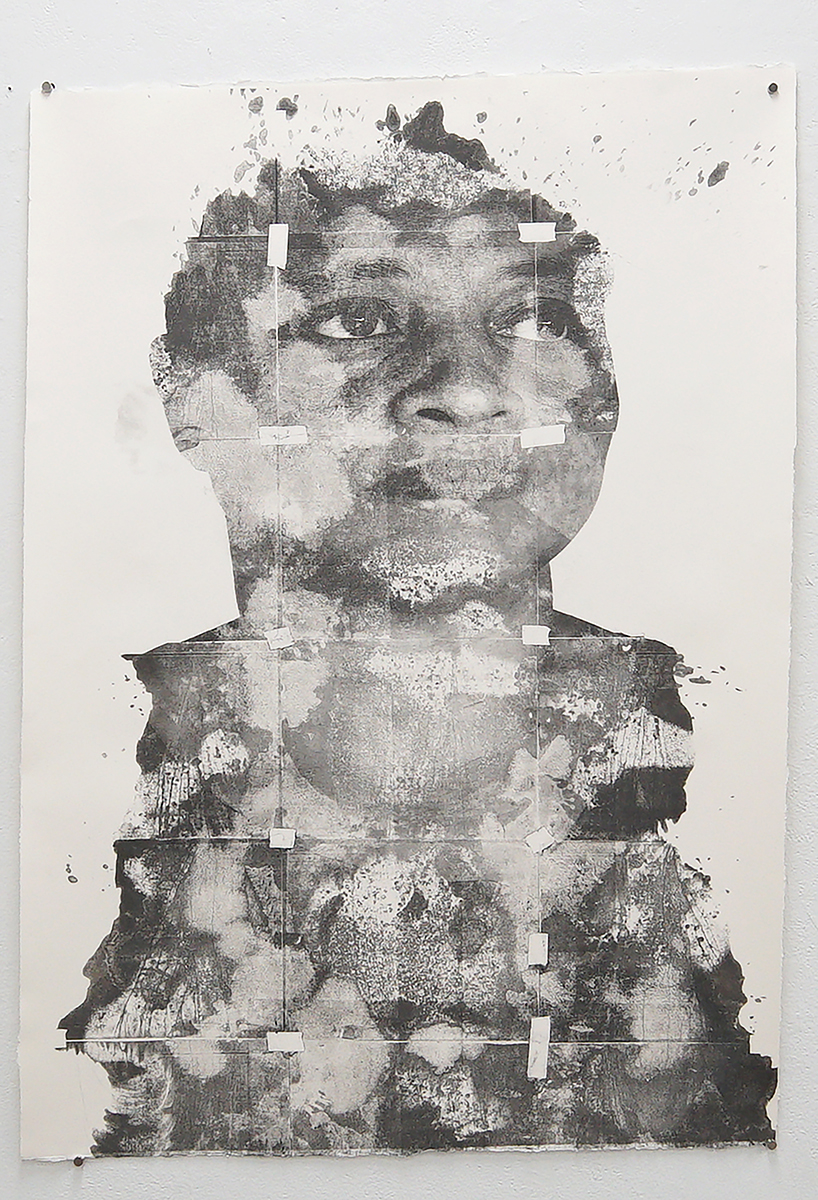 """Untitled (Merna), from the New Haven Series, 2020, solvent transfer on archival paper, 30""""x 44"""""""