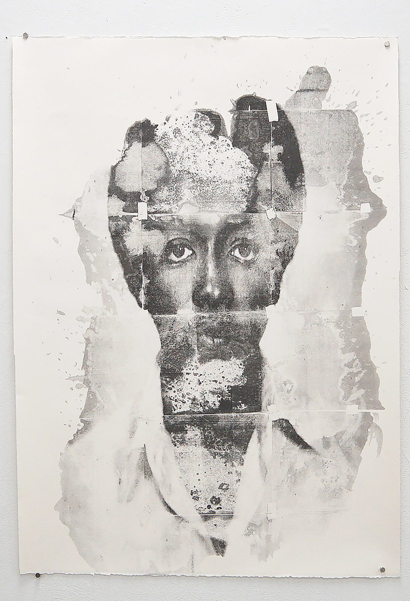 """Untitled (Wayne), from the New Haven Series, 2020, solvent transfer on archival paper, 30""""x 44"""""""