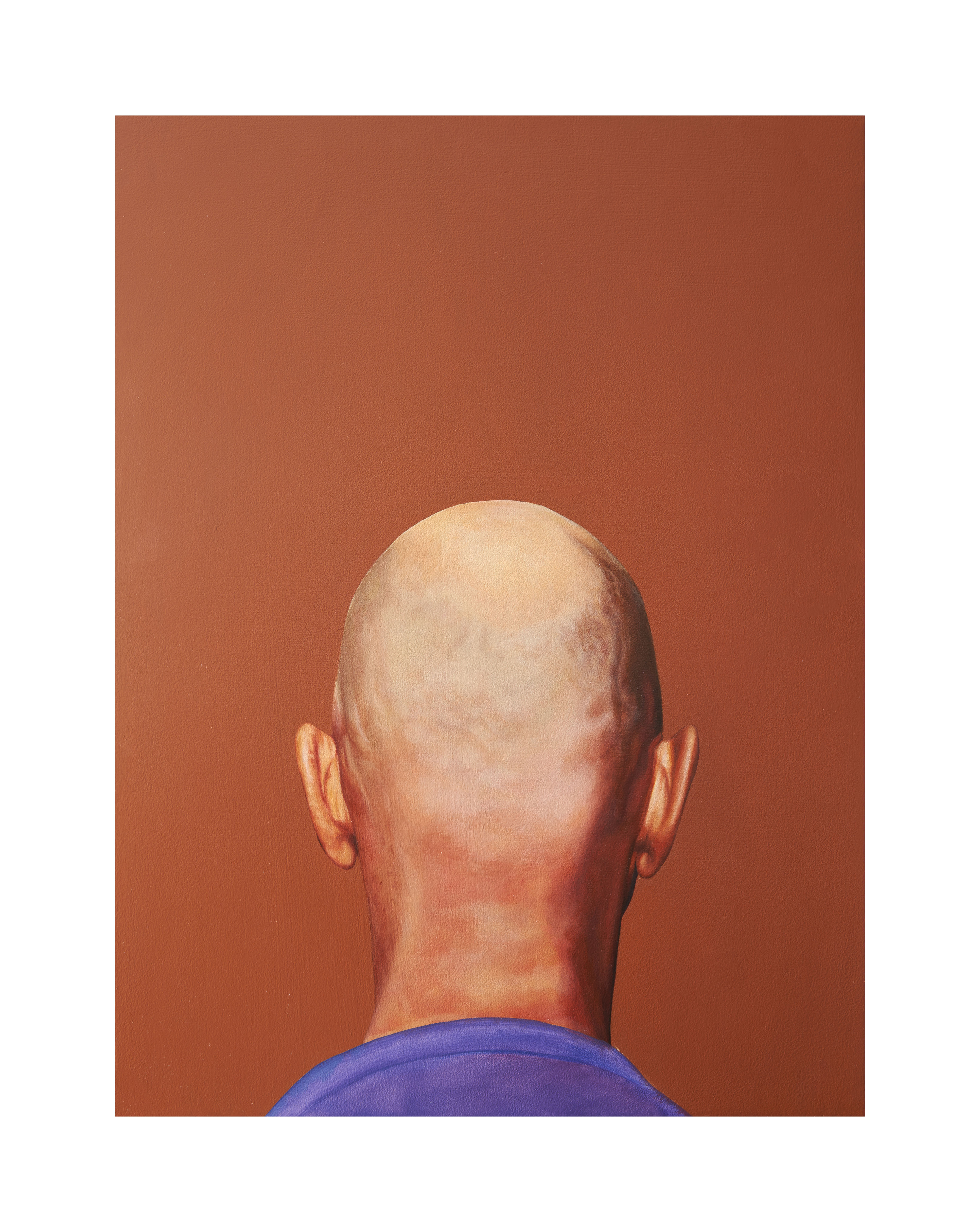 Head 1, Oil on Wood Panel, 24 x 18 x 2 inches, 2020